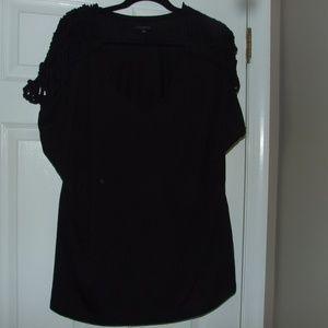 Lane Bryant Black Crocheted Shoulder Top Size  22
